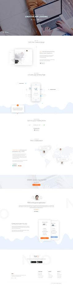 NXO- Creative App – Landing page by Raaz Das