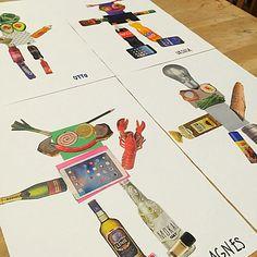 My stuff// robots - DIY - kindergarten - collage - skidtogkanel - Kirstine Kirk Collage Kunst, Collage Art, Ecole Art, Kindergarten Art, Art Lessons Elementary, Robot Art, Process Art, Recycled Art, Art Classroom