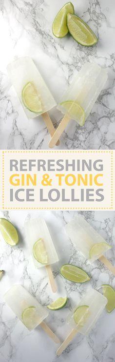 gin tonic ice lollies