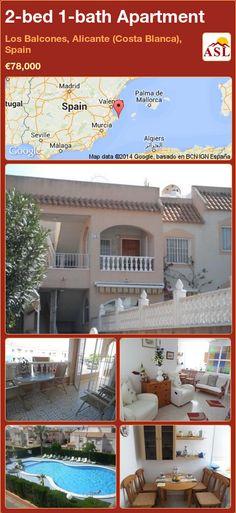 2-bed 1-bath Apartment in Los Balcones, Alicante (Costa Blanca), Spain ►€78,000 #PropertyForSaleInSpain