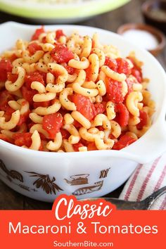 Could You Eat Pizza With Sort Two Diabetic Issues? This Old School Recipe For Macaroni And Tomatoes Is A Childhood Classic For Many Folks. It's Quick, Easy, Only Calls For A Few Ingredients, And Is So Delicious Recipe For Macaroni And Tomatoes, Macaroni Recipes, Pasta Recipes, Cooking Recipes, Macaroni Salad, Recipes For Tomatoes, Dishes Recipes, Side Recipes, Pork Recipes