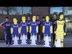 Fernando Torres y otros jugadores del Chelsea. | Chelsea Unseen ft. Chelsea's collaboration with The Simpsons and more