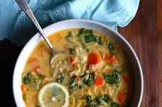 Lemon and Spinach Orzo Soup  Recipe on Food52, a recipe on Food52