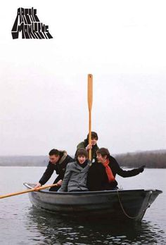 Arctic Monkeys Band in Boat Poster 24x36