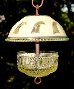 Glass bird feeders squirrel proof bird feeder by StellaErwins                                                                                                                                                                                 More