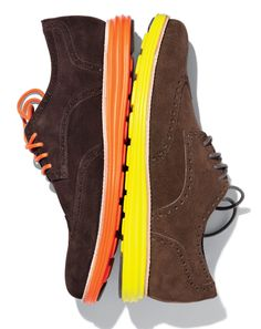 Do the Moonwalk  Our favorite hybrid—the LunarGrand wingtip—is what happens when Cole Haan borrows tech-spertise from its parent company, Nike.    Cole Haan  $248