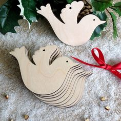 Wooden Dove for Wedding Wish Tree or Christmas Decoration Ornament, Gift Tags, Blank Shapes