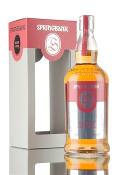 Released in the early part of 2017, this 25 year old Campbeltown single malt Scotch whisky from Springbank distillery has been matured in sherry & bourbon casks, before being married in casks that previous held port wine. Only 900 bottles were filled in 2016 at 46%.