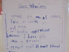 "interactive writing for nf ""guess who"" books Joyful Learning In KC ..."
