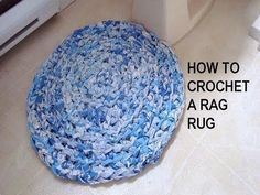 Scrap Project: Learn How To Crochet A Rag Rug Out Of Old Sheets! - Starting Chain