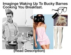 """""""Imagine Waking Up To Bucky Barns Cooking You Breakfast"""" by alyssaclair-winchester ❤ liked on Polyvore featuring Victoria's Secret, Sebastian Professional, Peony & Moss, Larke, kitchen, bathroom, imagine, Avengers, marvel and buckybarnes"""