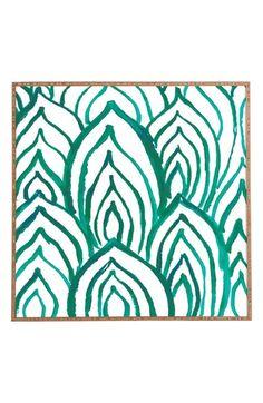DENY Designs 'Emerald Coast' Framed Wall Art available at #Nordstrom