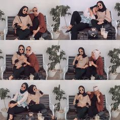 #friendship Ootd Hijab, Friendship, Korea, Polaroid Film, Outfits, Suits, Korean, Kleding, Outfit