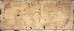 1529 Diego Ribero - Mappa Mundi en dos partes conforme al acuerdo de Tordesillas del año 1494