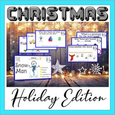 "Christmas classic Read-aloud ""The Snowman"" (PPT) can be easily assigned on Seesaw! Moveable assignment Perfect for the Holidays and Distance Learning. Completely interactive Grammar Phonics fun for reading comprehension, synonyms and rhyme! Easily monitor spelling, fluency and vocabulary.***Illustra..."