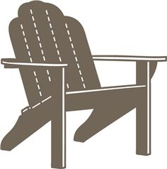 Captivating Silhouette Design Store: Adirondack Chair