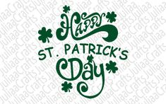 st patrick svg Monogram Wreath, Happy St Patricks Day, St Pattys, Cricut, Clip Art, Messages, This Or That Questions, Cards, Etsy
