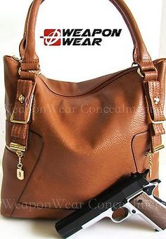 #194 NEW STYLE Brown Concealment Concealed Carry CCW Holster Gun Tote Purse