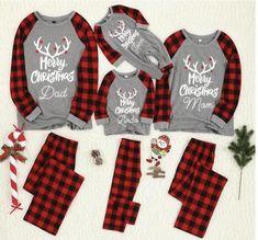 Family Christmas Pajamas Sets, Family Pajama Sets, Matching Family Pajamas, Christmas Pjs, Matching Family Outfits, Christmas Clothes, Christmas Outfits, Christmas Dinners, Matching Pjs