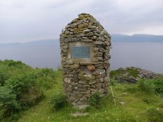 Monument on Rubha Beag overlooking Loch Fyne where MacEwen Castle once stood...home of my  great grandmother's clan.