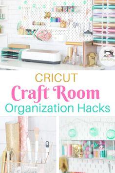 Organisation Hacks, Organizing Hacks, Sewing Room Organization, Tips And Tricks, Home Decoracion, Craft Room Design, Cricut Craft Room, Craft Rooms, Craft Desk