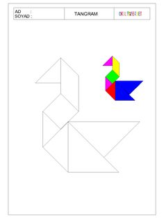 www.okuloncesihersey.net serbest-zaman-etkinlikleri-cocuklar-icin-tangram.html Fun Worksheets For Kids, Tracing Shapes, Tangram Puzzles, Play To Learn, Teaching Math, Preschool Activities, Kids And Parenting, Kids Learning, Camping
