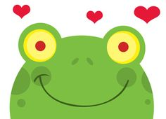 Frogs Clipart Image - Clipart Illustration of a Frog in Love