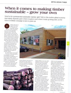 Timber in Construction Grow your own timber page 1 01.06.15