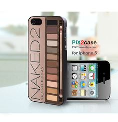 Naked Palette iPhone Case - iPhone 5 case,Girly Make Up iPhone 5 Case, Eyeshadow Makeup Set Case for iPhone 5. $13.99, via Etsy.