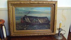 Antique oil painting Boat Wreck William Ayerst Ingram 19c Art England MUSEUM in Art, Contemporary Paintings, Other Contemporary Paintings | eBay