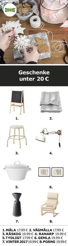 IKEA Deutschland |  Du bist noch auf der Suche nach dem passenden Geschenk? Wir haben hier super Ideen unter 20 Euro.