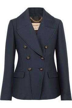 Burberry | Double-breasted twill blazer | NET-A-PORTER.COM