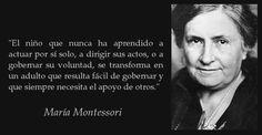 María Montessori Maria Montessori Frases, Einstein, Homeschool, Teacher, Writing, Sayings, Carrera, Children, People