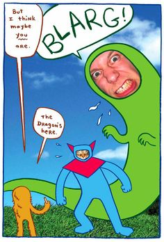 books4yourkids.com: Dragon Puncher, written and illustrated by James Kochalka, 40 pp, RL 1