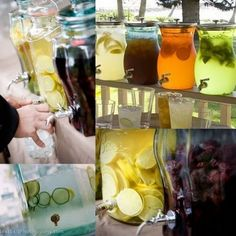 old-fashioned infusion jars for special non-alcoholic drinks