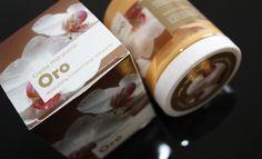 Diseño Packaging Crema Oro de Prisma Natural. Línea de productos naturales.
