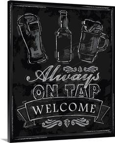 Always On Tap - Chalkboard Beer Sign