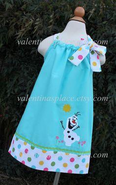 FROZEN'S OLAF Snowman pillowcase dress Dress by Valentinasplace, $32.00