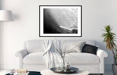 Wave Black And White Photography Print