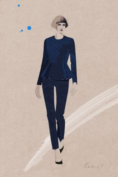 Opening Ceremony uniforms for Estée Lauder's beauty consultants #fashionillustration #artluxedesigns