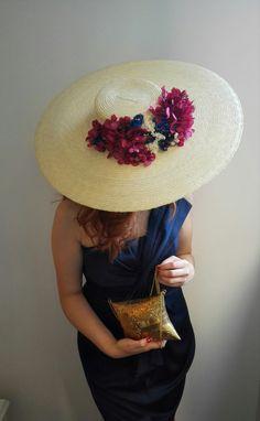Pamela Miss Daisy pamelas canotier invitada perfecta hortensias preservadas