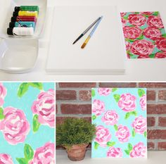 How to Paint Lily Pulitzer Flowers on Jane.com