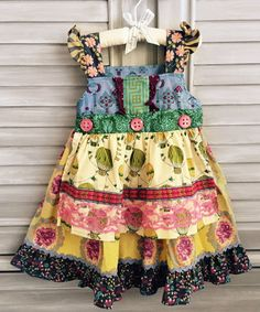 Matilda Jane - Paint By Numbers - Wisteria - No Knot Apron Dress - 2 / 2T - NWOT #MatildaJane