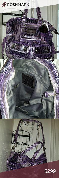 COACH POPPY SLOTLIGHT BAG Purple limited edition spotlight bag.... it is beautiful. please share... Coach Bags Shoulder Bags