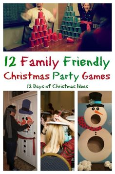 12 Days of Christmas with 12 Family Friendly Party Games. Plus, a link party to share your family holiday games!