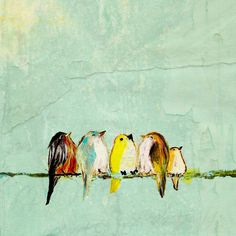 We Are the World (8x10 baby birds on wire print). $24.00, via Etsy.