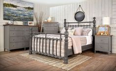 Grey Bedroom Furniture Gray American Made Bedroom Furniture Countryside Amish Furniture Creative Grey Bedroom Set, Grey Bedroom Furniture Sets, Modern Grey Bedroom, Silver Bedroom, Wooden Bedroom, Bedroom Sets, Rustic Bedrooms, Dark White, Amish Furniture