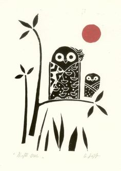 Image result for Woodblock printing Japanese Prints, Woodblock Print, Graphic Tees, Owl, Printing, Character, Image, Graphics, Modern