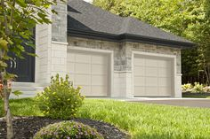 Discover the Cambridge CL design from Garaga Garage Doors which offers a contemporary look for your home. Garage Door Colors, Garage Door Design, Cl Design, Tan House, Modern Garage Doors, Garage Door Makeover, Tans, House Colors, Contemporary Style