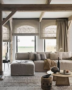 Formal Living Rooms, Home Living Room, Living Room Decor, Living Spaces, Home Room Design, Living Room Designs, Home Furnishing Stores, Relaxation Room, Curtains With Blinds